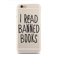 I read banned book - Reading book - Book nerd - Super Slim - Printed Case for iPhone - SC-111
