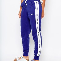 Nike Club Cuffed Sweat Pants With Tape Logo