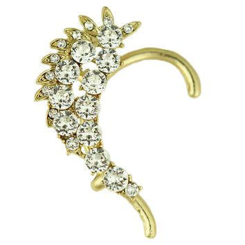 Crusted Crystal Ear Cuff