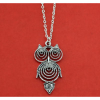 Owl Pendant Choker Short Women Necklace