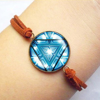 Iron man necklace Heart Arc reactor vintage Bracelet ready for gifting - buy 3 get 4th one free