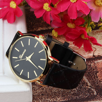 Fabulous new hot sale luxury fashion faux-leather variety color simulated quartz watch Brand factory prices For Reloj Relogio