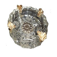 Vintage American Cut Glass Ashtray