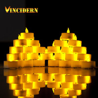 30pcs/lot LED Smokeless Flickering Battery electronic Candles Tea Light candle Christmas holiday decorative candles