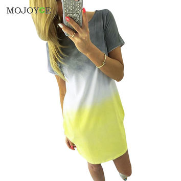 Fashion Womens Dress Boho Casual Party Beach Short Mini Dress Short Sleeve Vestidos dresses vestido de festa bandage dress  SN9