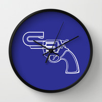 Real Gun Wall Clock by Tony Vazquez