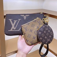 Louis Vuitton LV fashion printing key case new popular all-match coin purse mahjong bag
