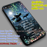 Peter Pan's Quote iPhone 6s 6 6s+ 6plus Cases Samsung Galaxy s5 s6 Edge+ NOTE 5 4 3 #cartoon #animated #disney #peterpan dl5