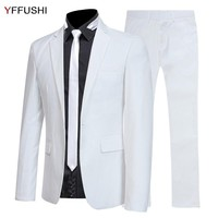 YFFUSHI 2018 New Fashion Men Suit 2 Pieces Multicolor Suits With Pants Wedding Suits For Men Business Casual Style 6XL