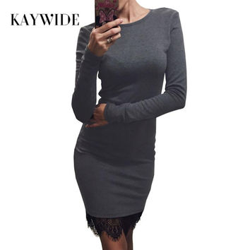 O Neck Casual Party dress With Tassel Long Sleeve