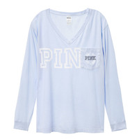 Campus Long Sleeve V-Neck Tee - Victoria's Secret