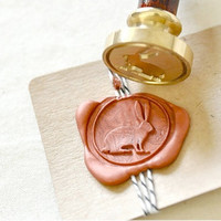 Rabbit Gold Plated Wax Seal Stamp x 1
