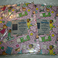 Vintage Sleepover Party Pajama Party  Wrapping Paper Gift Wrap 2 Packages 90s Slumber Party