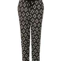 LE3NO Womens Casual Summer Printed Design Ankle Length Jogger Pants with Pockets