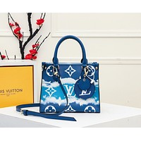 lv louis vuitton womens tote bag handbag shopping leather tote crossbody satchel 122