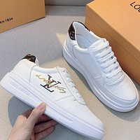 Louis Vuitton LV  Girls' small white shoes