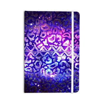 "Ebi Emporium ""Tribal Leopard Galaxy"" Purple Blue Painting Everything Notebook"