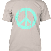 Wooden mint Peace HIPPY Shirt