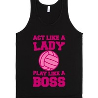 Act Like A Lady Play Like A Boss-Unisex Black Tank