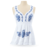Embroidered Voile Top - Women's Clothing & Symbolic Jewelry – Sexy, Fantasy, Romantic Fashions
