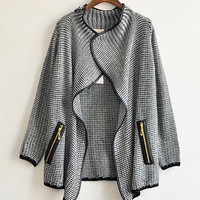 'The Melissa' Gray  Knitted Cardigan