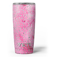 The Abstract Watercolor Under a Microscope - Skin Decal Vinyl Wrap Kit compatible with the Yeti Rambler Cooler Tumbler Cups