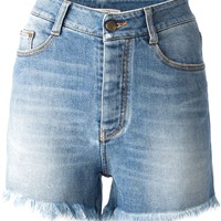 Ermanno Scervino faded denim shorts