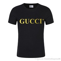 Luxury Mens brand Designers T Shirt Summer hip hop Fashion Letter embroidery Mens womenShort Sleeves clothing 100% Cotton tee S-5XL/Gucci