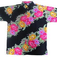 La Leela Hibiscus Floral Printed Likre Pink Beach Hawaiian Shirt For Men