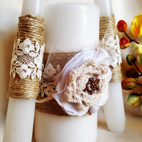 Rustic Unity Candles, Wedding Unity Candle Ceremony rustic Unity Candles Set Set of 3 wedding candle centerpiece candle favors