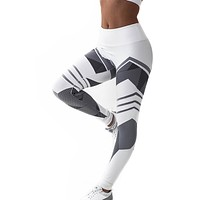 Women's Geometric Print Athletic Leggings