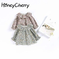 Girls Retro Lace Collar Cotton Shirt