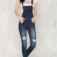 Cheap Monday Dungaree Overalls - Carbon Blue