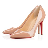 Best Online Sale Christian Louboutin Cl Pigalle Nude Patent Leather 100mm Stiletto Heel Classic