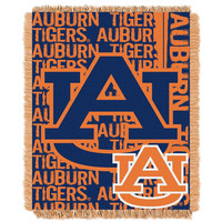 Auburn Tigers NCAA Triple Woven Jacquard Throw (Double Play Series) (48x60)