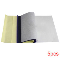 5 Sheets Tattoo Transfer Carbon Paper Supply Tracing Copy Body Art Thermal Stencil A4 Size
