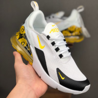 HCXX 19July 688 Nike Air Max 270 Printting Mesh Fashion Casual Running Shoes white black yellow