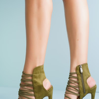 Astra Strappy Heels - Olive