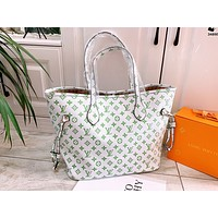 Hipgirls LV Louis vuitton new glow-in-the-dark embossed logo woman shopping handbag