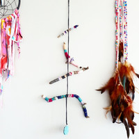 Nature Mobile~ Colorful Branch Room Accent~ Baby Mobile~ Bohemian Decor~ Room Decor~ Boho Decor~ Childrens Room Decor~ Turquoise Decor~ Art