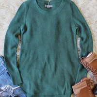 Everyday Layering Sweater in Pine