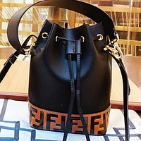 Hipgirls Fendi Fashion new more letter leather bucket bag shoulder bag handbag crossbody bag