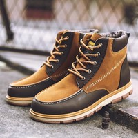 On Sale Hot Deal Winter Men's Shoes High-top Plus Size Stylish Boots [257818263581]