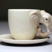 Hand-painted Mini 3D Animal Elephant Mug Ceramic Cup Cartoon Cup Coffee cup