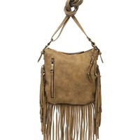 Jessica Simpson Delilah Fringed Faux-Suede Cross-Body Bag | Dillards