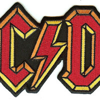 AC/DC Iron-On Back Patch Large Letters Logo