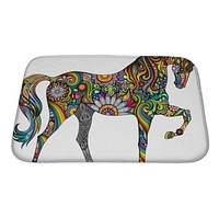 Bath Mat, Cheerful Horse