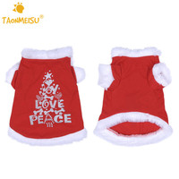 Words Love Printed Pets Dog Cat Christmas Dress Cute Red Pet Puppy Skirts With White Fur Soft Comfirtable Pets Costume Clothing