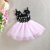 Baby Girls Dress Dot Mickey Minnie Tutu Princess Dress Babies Infant Clothing Summer Dress 1-4years