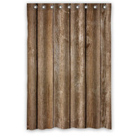 Vintage Rustic Old Barn Wood Shower Curtains 48x72